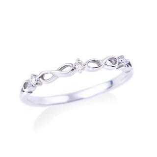 ジュエリーツツミ(JEWELRY TSUTSUMI)の美品 ホワイトゴールド ピンキーリング(リング(指輪))
