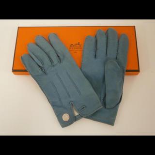 エルメス(Hermes)のHERMES エルメス 正規品 本物 セリエ レザーグローブ 革手袋 7(手袋)