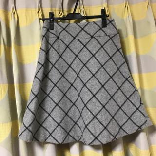 アウィーエフ(AuieF)のAuieF シャギーチェックフレアスカート(ひざ丈スカート)