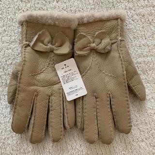 バーニーズニューヨーク(BARNEYS NEW YORK)のもこもこリアルムートン手袋 新品未使用美品(手袋)