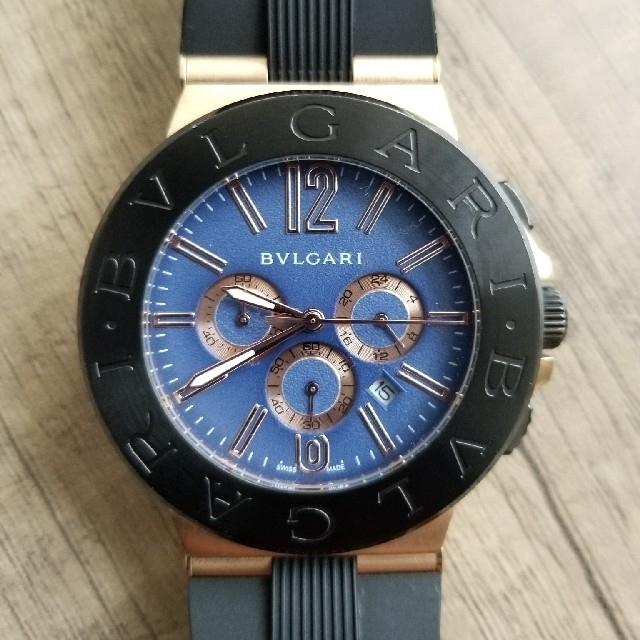 オメガ 時計 偽物 見分け方並行輸入 - BVLGARI - ブルガリ ディアゴノ クロノグラフ ピンクゴールドの通販 by 🐌