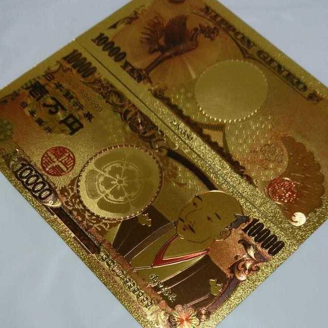織田信長モデル★数量限定!純金24k1万円札1枚☆お財布やバッグに☆新デザインの通販