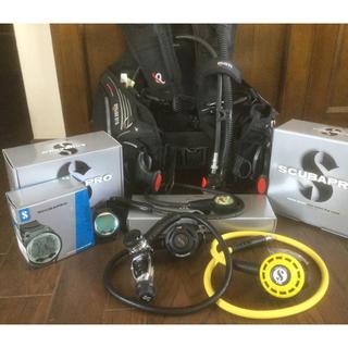 スキューバプロ(SCUBAPRO)の重機材セットBCD、レギ、ゲージ、オクトパス、ダイビングコンピュータ正規品保証付(マリン/スイミング)