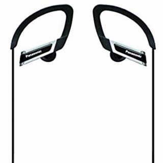 Panasonic 耳掛けイヤホン 高音質 スポーツ◎ ブラック(ヘッドフォン/イヤフォン)