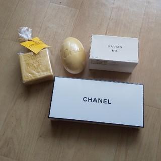 シャネル(CHANEL)のCHANEL L'OCCITANE 石鹸4個セット(ボディソープ/石鹸)