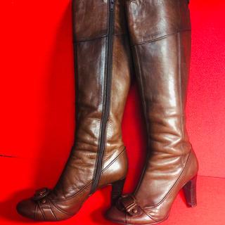 オゥバニスター(AU BANNISTER)のAU Bannistar オゥ バニスター ブラウン ブーツ 22.5(ブーツ)