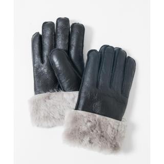 グラム(glamb)のglamb ムートングローブ Mouton glove BLACK×WHITE(手袋)