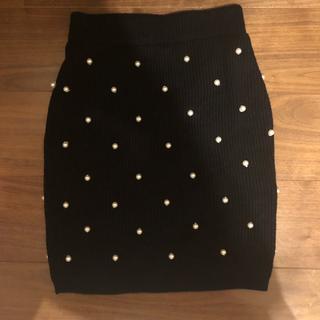 イーハイフンワールドギャラリーボンボン(E hyphen world gallery BonBon)のイーハイフンワールドギャラリーボンボン パールニットタイトスカート(ひざ丈スカート)