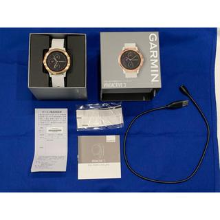 ガーミン(GARMIN)のGARMIN  VIVOACTIVE3  White Rose Gold(腕時計)