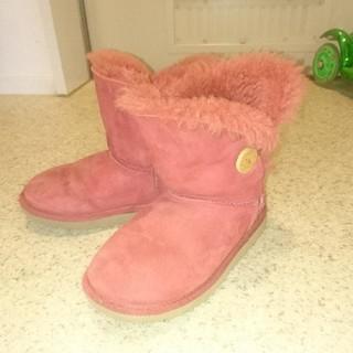 アグ(UGG)のUGG*ムートンブーツ*ピンク*18cm(ブーツ)