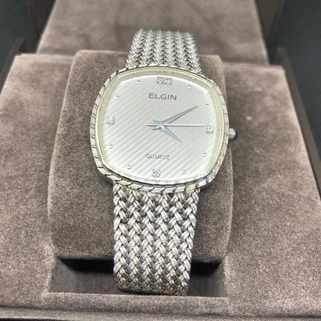 ELGIN - ELGIN エルジン FK266メンズ クォーツ腕時計 電池ありの通販