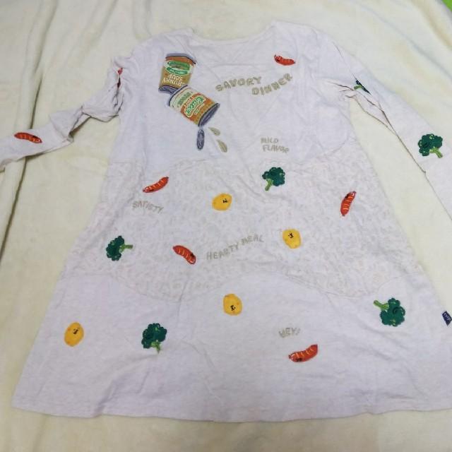 rough(ラフ)のrough 長めのシャツ レディースのトップス(Tシャツ(長袖/七分))の商品写真
