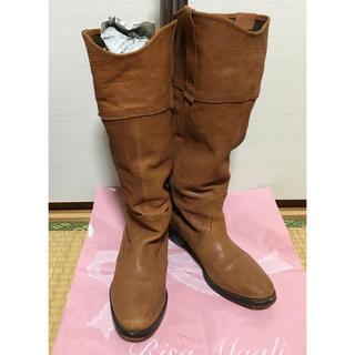ナチュラルビューティーベーシック(NATURAL BEAUTY BASIC)のミオノティス ロングブーツ キャメル 革(ブーツ)