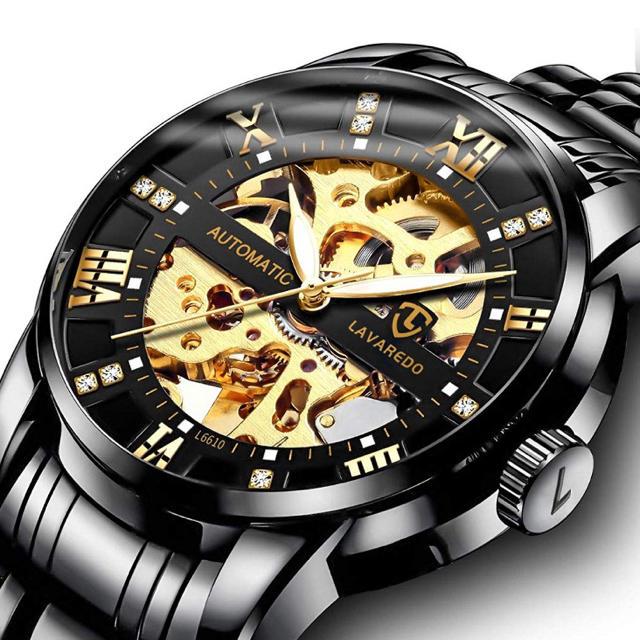 新品未使用! スケルトン機械式腕時計 海外限定品の通販