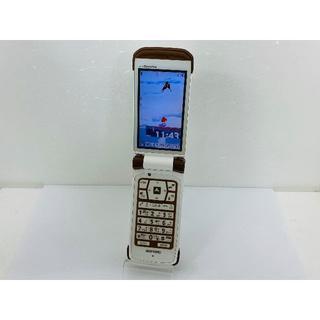 エヌイーシー(NEC)のdocomo N-03C 〇判定 バートンホワイト 携帯本体 送料無料(携帯電話本体)