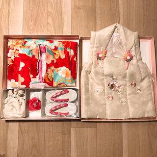 美品♡ブランド着物 小町キッズ 七五三3歳用着物 8点セット(和服/着物)