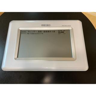 セイコー(SEIKO)のSEIKO セイコークロック 掛け時計 温度 湿度 白 SQ424W SEIKO(置時計)