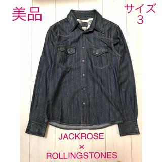 ジャックローズ(JACKROSE)の【美品】Jackrose×Rolling Stones デニムシャツ L(シャツ)