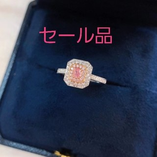 ♡Fancy Light Pinkダイヤモンドリング(リング(指輪))