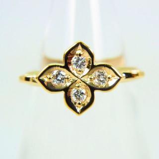 K18 ダイヤモンド ピンキーリング 3号[g105-2](リング(指輪))