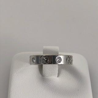 グッチ(Gucci)のGUCCI アイコンリング ダイヤモンドリング (リング(指輪))