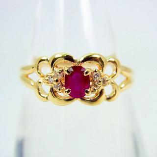 K18 ルビー ダイヤモンド リング 10.5号[g105-4] (リング(指輪))