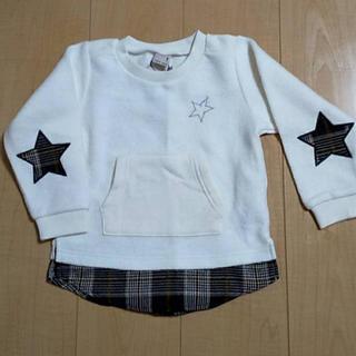 プティマイン(petit main)のkei様専用♡petit main重ね着風トレーナー100cm新品(Tシャツ/カットソー)