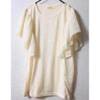 ダブルクローゼット(w closet)の新品 ダブルクローゼット シフォンブラウス(シャツ/ブラウス(半袖/袖なし))
