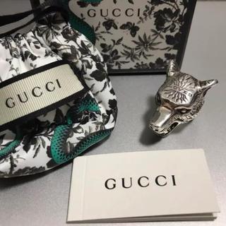 グッチ(Gucci)のGUCCI ウルフ ヘッド シルバー リング 10号(リング(指輪))