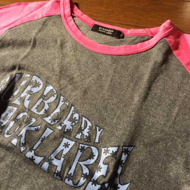 BURBERRY BLACK LABEL(バーバリーブラックレーベル)のバーバリーブラックレーベル☆ラグランピンク長袖カットソー メンズのトップス(Tシャツ/カットソー(七分/長袖))の商品写真