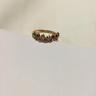 エテ(ete)のk18  アミュレット カラフル  リング レース (リング(指輪))