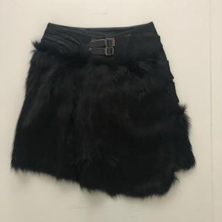 アンダーカバー(UNDERCOVER)のアンダーカバー フォックス ファー スカート(ひざ丈スカート)