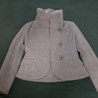 MISCH MASCH - MISCH MASCH ショート丈コート ファー付き ウール