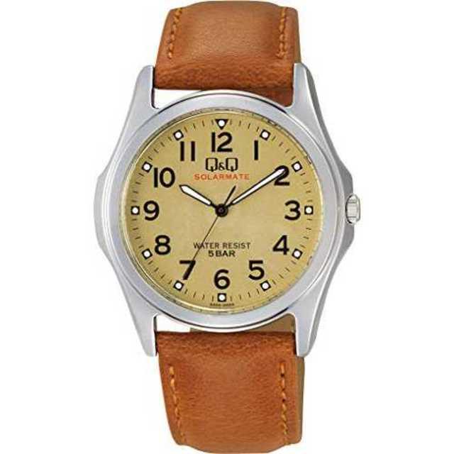 [シチズン Q&Q] 腕時計 ソーラー H044-303 メンズ ブラウンの通販