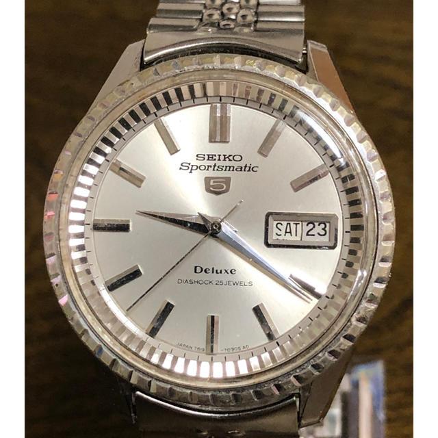 SEIKO - セイコー スポーツマチック5 デラックス 自動巻腕時計の通販