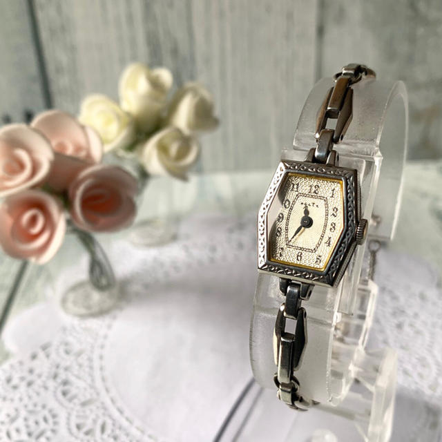 agete - 【電池交換済み】agete アガット 腕時計 シルバー アンティーク調の通販