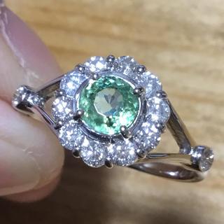 レア❗️デマントイドガーネット✨ダイヤ✨リング✨指輪✨約18号✨簡易鑑別(リング(指輪))