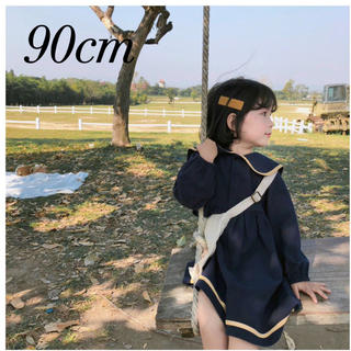 MARKEY'S - 新品  韓国子供服 セーラーワンピース ワンピース セーラー カラー 90
