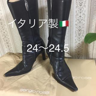 セルジオロッシ(Sergio Rossi)の【美品】☆セルジオ ロッシ ブーツ 37 1/2靴  イタリア製(ブーツ)