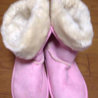 ピンクのムートン♡(ブーツ)