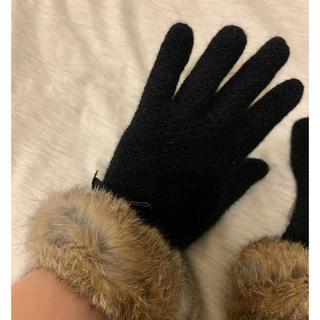美品☆ 兎毛グローブ(手袋)