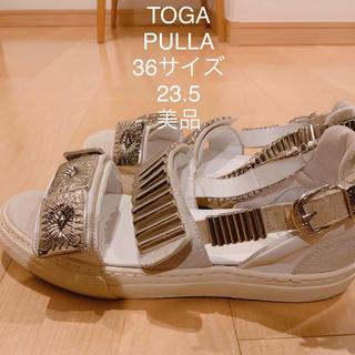 トーガ(TOGA)のTOGA PULLA 正規品 メタルスニーカーサンダル 36 23.5(サンダル)