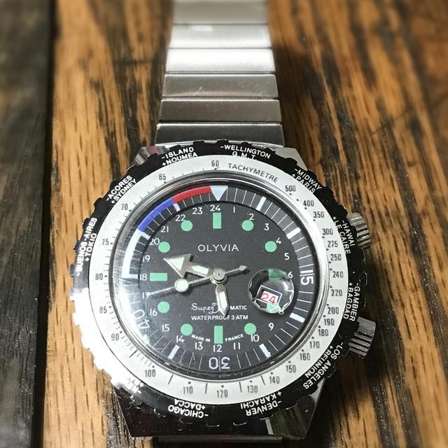 ロレックス スカイドゥエラー スーパーコピー 時計 / 値下げ フランス製 ビンテージダイバーズ タキメーター 手巻き時計 美品の通販