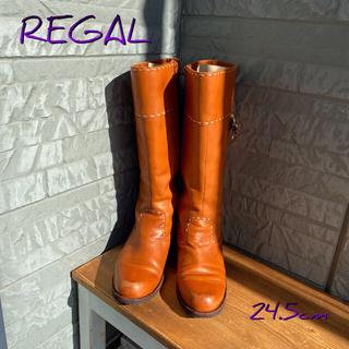 リーガル(REGAL)のREGAL ロングブーツ 24.5cm ブラウン(ブーツ)