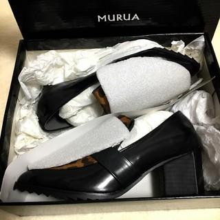 ムルーア(MURUA)の新品未使用MURUA スリムローファー 35(ローファー/革靴)