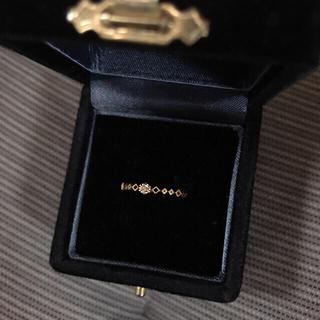 エテ(ete)のete  ブラウンダイヤ レイヤードリング 7号 0.03ct(リング(指輪))