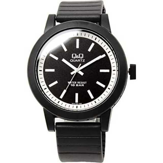 ブラック[シチズン Q&Q]腕時計 10気圧防水 ウレタンバンド カジュアル ポの通販