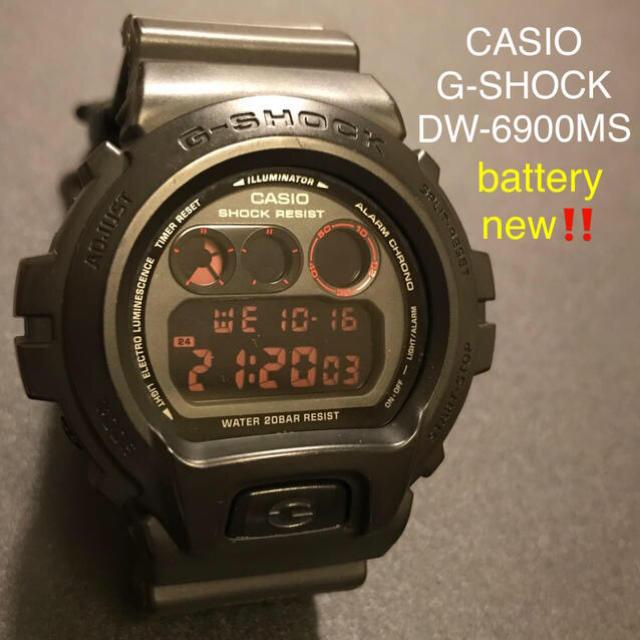 【かなり美品】CASIO G-SHOCK DW6900MS 腕時計の通販