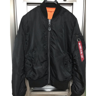 ALPHA INDUSTRIES - アルファalpha ma-1 BLACK