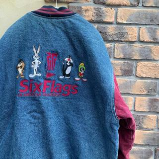 ディズニー(Disney)の90s  WARNER BROS ワーナーブラザーズ デニムジャケット 古着(Gジャン/デニムジャケット)